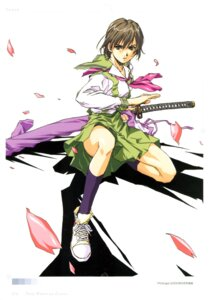Rating: Safe Score: 11 Tags: horibe_hiderou seifuku sword User: Radioactive