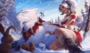Rating: Questionable Score: 9 Tags: bikini_top christmas cleavage league_of_legends tagme tattoo water_drop User: Radioactive