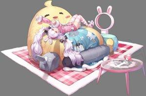 Rating: Safe Score: 30 Tags: animal_ears azur_lane bunny_ears kaede_(yumesaki_kaede) laffey_(azur_lane) pajama thighhighs transparent_png User: Arsy
