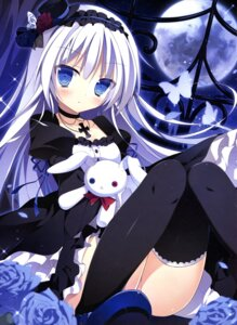 Rating: Questionable Score: 113 Tags: cleavage dress gothic_lolita lolita_fashion muku_(apupop) nopan thighhighs User: drop
