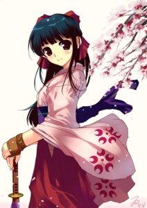 Rating: Safe Score: 26 Tags: japanese_clothes miyazaki_byou sakura_taisen shinguuji_sakura sword User: fireattack