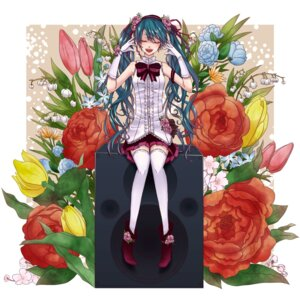 Rating: Safe Score: 18 Tags: hatsune_miku miharu_55 thighhighs vocaloid User: Radioactive