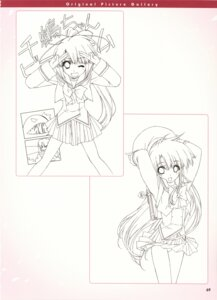 Rating: Questionable Score: 7 Tags: boy_meets_girl kumotani_chizuru monochrome pantsu seifuku shintarou sketch tsubasa_miu User: admin2