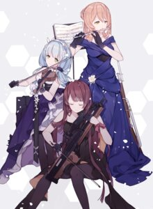 Rating: Questionable Score: 29 Tags: dress girls_frontline gun hk416_(girls_frontline) miyuki_(miyuki_05290) pantyhose springfield_(girls_frontline) wa2000_(girls_frontline) User: sym455