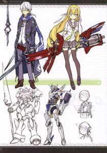 Rating: Safe Score: 13 Tags: asahiage mecha poco seifuku sketch sword thighhighs weapon User: fireattack