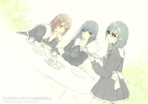 Rating: Safe Score: 12 Tags: flowers innocent_grey megane seifuku sketch User: Devard