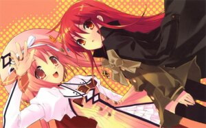 Rating: Safe Score: 21 Tags: akihime_sumomo crossover dress ito_noizi nanatsuiro_drops shakugan_no_shana shana thighhighs User: Share