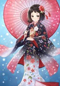 Rating: Safe Score: 23 Tags: japanese_clothes kimono tadokoro_teppei umbrella User: Mr_GT