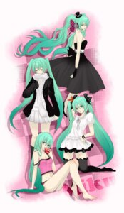 Rating: Safe Score: 22 Tags: character_design dress hajimete_no_koi_ga_owaru_toki_(vocaloid) hatsune_miku headphones magnet_(vocaloid) mizu_a romeo_and_cinderella_(vocaloid) thighhighs vocaloid world_is_mine_(vocaloid) User: charunetra