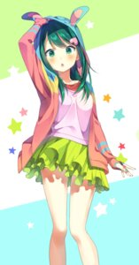 Rating: Safe Score: 60 Tags: kotori_(gokigen_iori) open_shirt serizawa_momoka tokyo_7th_sisters User: Mr_GT