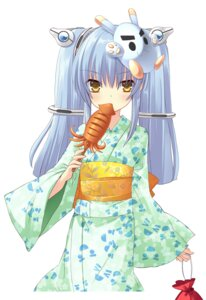 Rating: Safe Score: 33 Tags: flyable_heart ito_noizi kujou_kururi yukata User: fireattack