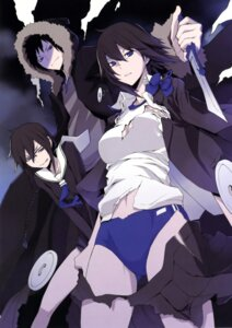 Rating: Questionable Score: 35 Tags: buruma cleavage durarara!! gym_uniform megane orihara_izaya orihara_kururi orihara_mairu seifuku torn_clothes weapon yasuda_suzuhito User: Radioactive
