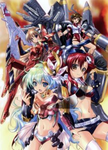 Rating: Questionable Score: 39 Tags: bikini_top bodysuit cleavage crossover gunbuster komatsu_e-ji leotard mecha mecha_musume neon_genesis_evangelion nia souryuu_asuka_langley takaya_noriko tengen_toppa_gurren_lagann thighhighs yoko User: petopeto