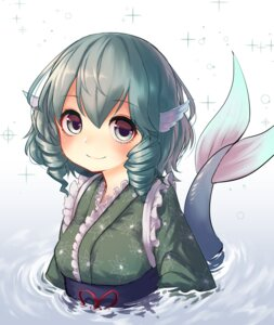 Rating: Safe Score: 22 Tags: japanese_clothes mermaid monster_girl pyonsuke0141 tail touhou wakasagihime wet User: nphuongsun93