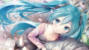 Rating: Safe Score: 148 Tags: daidou hatsune_miku thighhighs vocaloid wallpaper User: blooregardo