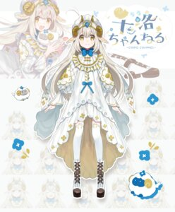 Rating: Safe Score: 10 Tags: animal_ears canarinu chiro_channel dress expression horns thighhighs yamagami_chiro User: Dreista