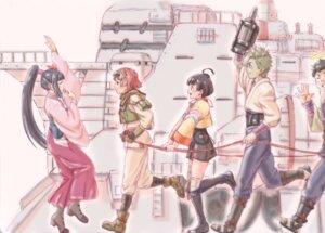 Rating: Safe Score: 5 Tags: armor ayame_(kabaneri) bandages heels ikoma_(kabaneri) japanese_clothes koutetsujou_no_kabaneri mumei yukina_(kabaneri) User: saemonnokami