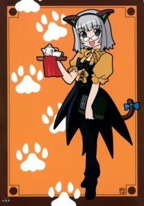 Rating: Safe Score: 4 Tags: animal_ears harada_shoutarou megane nekomimi pantyhose tail waitress User: blooregardo