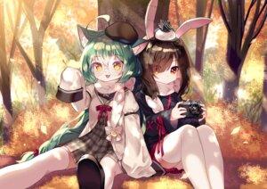 Rating: Safe Score: 27 Tags: akashi_(azur_lane) animal_ears azur_lane bunny_ears mechuragi megane nekomimi seifuku shiranui_(azur_lane) thighhighs User: Mr_GT