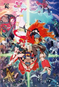 Rating: Safe Score: 47 Tags: kamina mecha nia simon tengen_toppa_gurren_lagann yoko yoshinari_you User: howagirlfigures