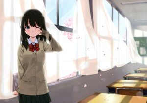 Rating: Safe Score: 58 Tags: seifuku shinkai_kissa sweater unasaka User: yswysc