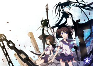 Rating: Safe Score: 19 Tags: black_rock_shooter black_rock_shooter_(character) dead_master kiko kuroi_mato seifuku takanashi_yomi vocaloid User: Nekotsúh