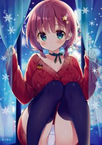 Rating: Questionable Score: 71 Tags: cameltoe cleavage pantsu suimya sweater thighhighs User: Hatsukoi