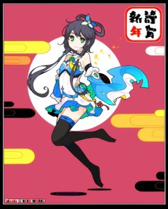 Rating: Safe Score: 45 Tags: ideolo luo_tianyi thighhighs vocaloid User: Radioactive