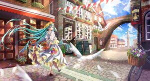 Rating: Safe Score: 29 Tags: dress hatsune_miku heels iria_(yumeirokingyo) landscape see_through vocaloid User: KazukiNanako