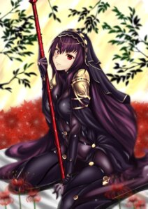Rating: Questionable Score: 37 Tags: armor bodysuit fate/grand_order fate/stay_night scathach_(fate/grand_order) serkior weapon User: mash