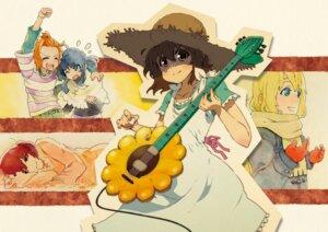 Rating: Safe Score: 9 Tags: akiyama_mio guitar hirasawa_yui k-on! kotobuki_tsumugi ringo78 tainaka_ritsu User: Radioactive