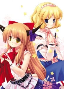 Rating: Safe Score: 14 Tags: alice_margatroid ibuki_suika miyasu_risa natsume_eri touhou User: konstargirl