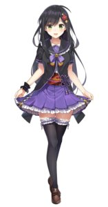 Rating: Safe Score: 121 Tags: garter kurokawa_kira mishima_kurone onsen_musume seifuku skirt_lift thighhighs User: saemonnokami
