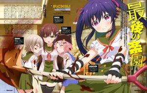 Rating: Questionable Score: 38 Tags: blood ebisuzawa_kurumi gakkou_gurashi! naoki_miki seifuku takeya_yuki thighhighs touyama_maki wakasa_yuuri User: drop