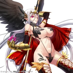 Rating: Questionable Score: 79 Tags: bikini_armor erect_nipples meiyaku_no_guardian_knights pointy_ears thighhighs underboob weapon wings yamacchi User: charunetra