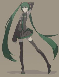 Rating: Safe Score: 10 Tags: hatsune_miku thighhighs tomioka_jirou vocaloid User: charunetra