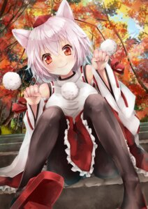 Rating: Questionable Score: 74 Tags: animal_ears inubashiri_momiji pantyhose sakura_ran touhou User: Mr_GT