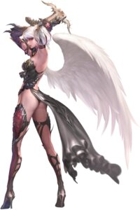 Rating: Questionable Score: 36 Tags: cg heels jeong_juno kamael lineage lineage_2 thighhighs wings User: Feito