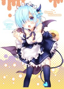 Rating: Safe Score: 63 Tags: chihiro cleavage halloween horns maid re_zero_kara_hajimeru_isekai_seikatsu rem_(re_zero) tail thighhighs wings User: Mr_GT