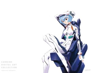 Rating: Safe Score: 23 Tags: ayanami_rei bodysuit neon_genesis_evangelion sadamoto_yoshiyuki wallpaper User: Radioactive