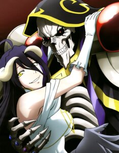Rating: Safe Score: 36 Tags: albedo_(overlord) armor dress horns momonga_(overlord) overlord User: drop