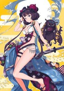 Rating: Safe Score: 41 Tags: bikini fate/grand_order fujimori_ao garter heels katsushika_hokusai_(fate/grand_order) swimsuits sword User: yanis