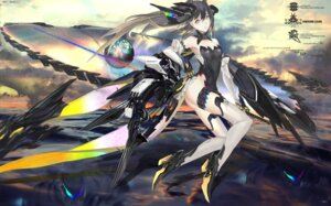 Rating: Safe Score: 67 Tags: ass garter heels kiwamu mecha_musume pixiv_fantasia sword tail thighhighs wings User: Zenex