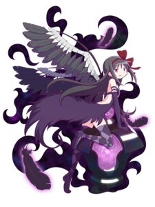 Rating: Questionable Score: 29 Tags: akemi_homura dress gecchu puella_magi_madoka_magica thighhighs wings User: SubaruSumeragi