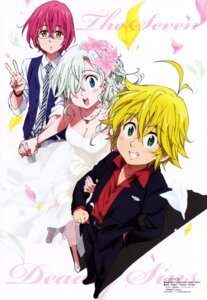 Rating: Questionable Score: 19 Tags: cleavage dress elizabeth_liones gowther_(nanatsu_no_taizai) megane meliodas_(nanatsu_no_taizai) nanatsu_no_taizai sugizono_akiko wedding_dress User: drop