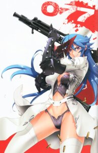 Rating: Questionable Score: 43 Tags: binding_discoloration cleavage gun hitsugi_sayo inazuma lingerie pantsu thighhighs torn_clothes triage_x User: Radioactive