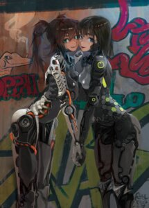 Rating: Safe Score: 54 Tags: attall bodysuit mecha_musume symmetrical_docking User: Debbie