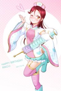 Rating: Safe Score: 7 Tags: ckst heels love_live!_sunshine!! nurse sakurauchi_riko signed stockings thighhighs User: RyuZU