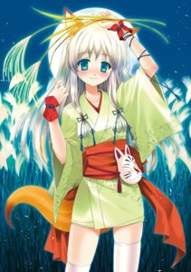 Rating: Safe Score: 27 Tags: animal_ears tail thighhighs touto_seiro yukata User: Radioactive