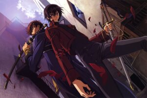 Rating: Safe Score: 12 Tags: code_geass kururugi_suzaku lelouch_lamperouge male nakatani_seiichi User: Aurelia